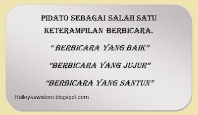 Pelajaran Materi Pidato Dalam Bahasa Indonesia