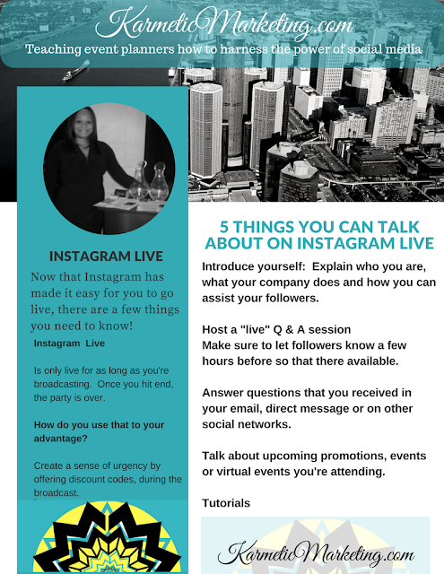 5 conversations you can have on Instagram live.