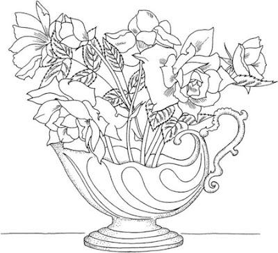 Imágenes de rosas, Flores para colorear