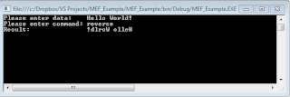 MEF Simple Application Output