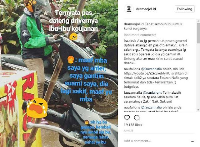 9 Kisah Driver Ojek Online Ini Viral di Medsos, Bikin Haru Netizen