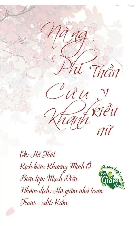 Nàng Phi Cửu Khanh - Thần Y Kiều Nữ Chap 67 . Next Chap 68
