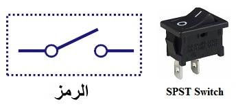 المفتاح الكهربائي العادي له مدخل واحد ومخرج واحد للكهرباء