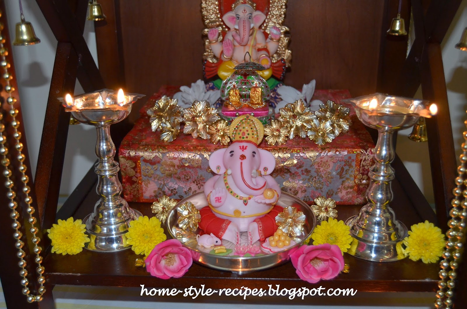 Share a recipe happy ganesh chaturthi 2014 for Decorations for ganesh chaturthi at home