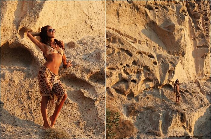 leopard print bikini outfit