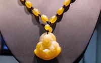 Yellow jadeite pendant