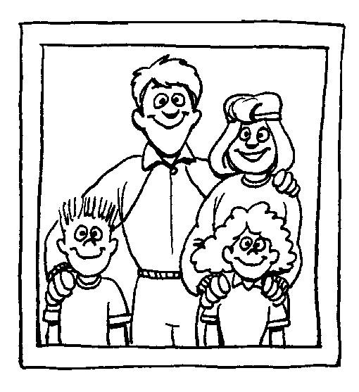 Mewarnai Gambar Anggota Keluarga