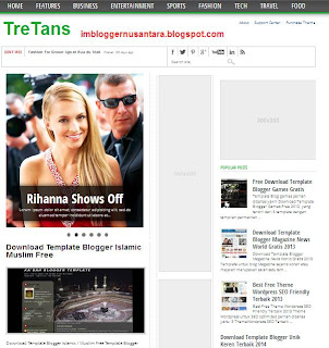 Template Blogger TreTans: SEO Friendly + Adsense Ready + Slide Show Free Download