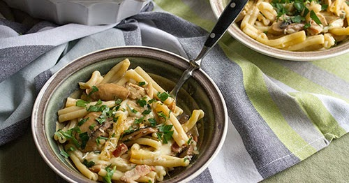 Mushrooms Canada Blog: Guest Post: Chicken Marsala Pasta Bake by Crumb ...