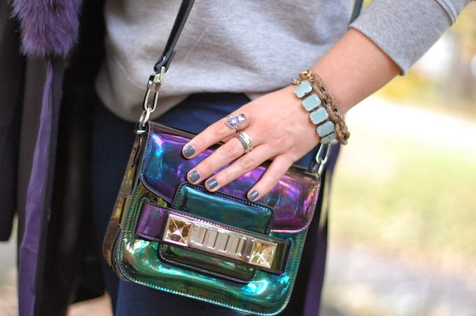 Proenza Schouler PS11 Tiny in Oil Slick