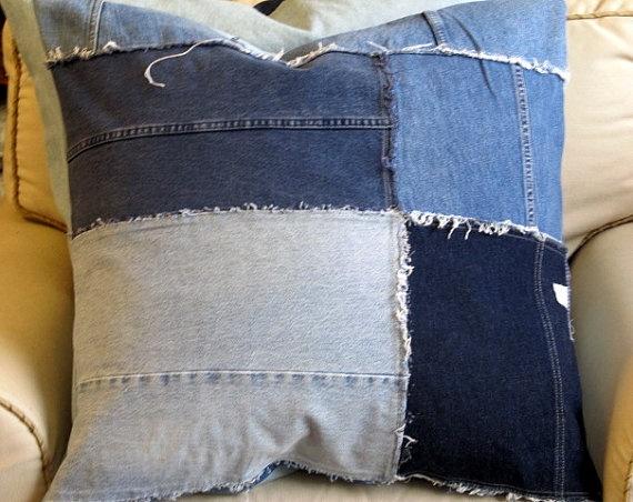 el yapımı jeans yastık