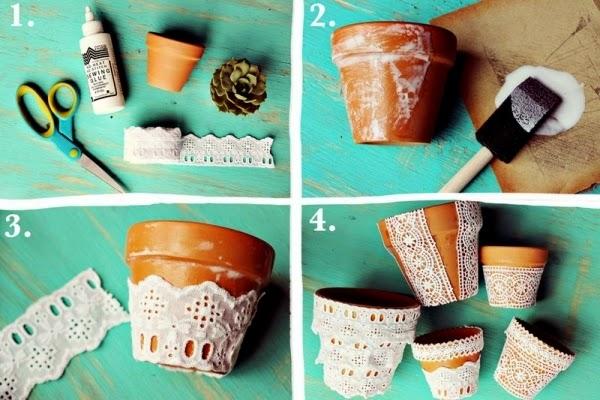 potes de cerâmica