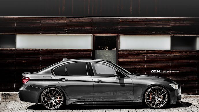 Wallpaper: BMW F30 with personalized wheels