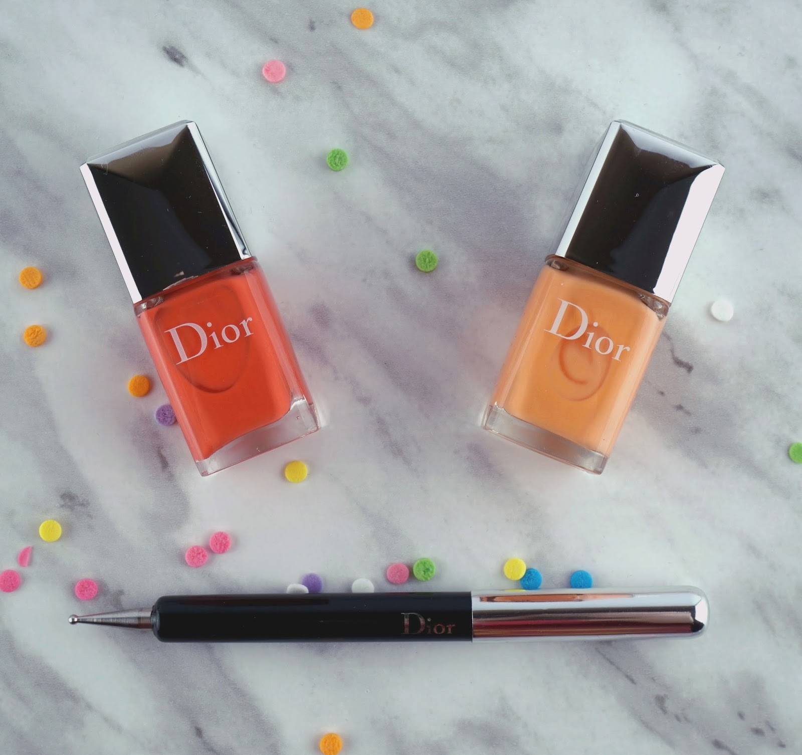 Dior Polka Dots Colour & Dots Manicure Kit Confettis nail art review swatches