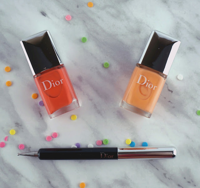 Dior Polka Dots Colour & Dots Manicure Kit Confettis nail art review swatches