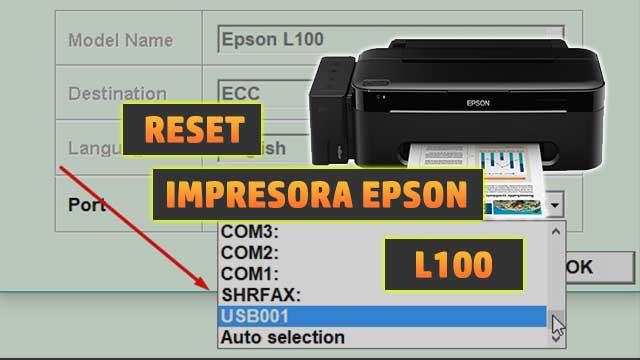 Reset almohadillas de la impresora EPSON L100 | how to reset printer EPSON