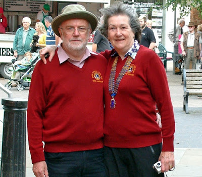 Brigg civic award winners Mike and Heather Johnson in the town centre