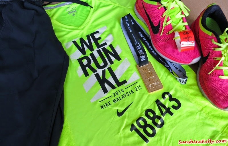 My First Half Marathon, Nike We Run KL 2015, We Run KL 2015, Half Marathon, Running, Finisher Medal