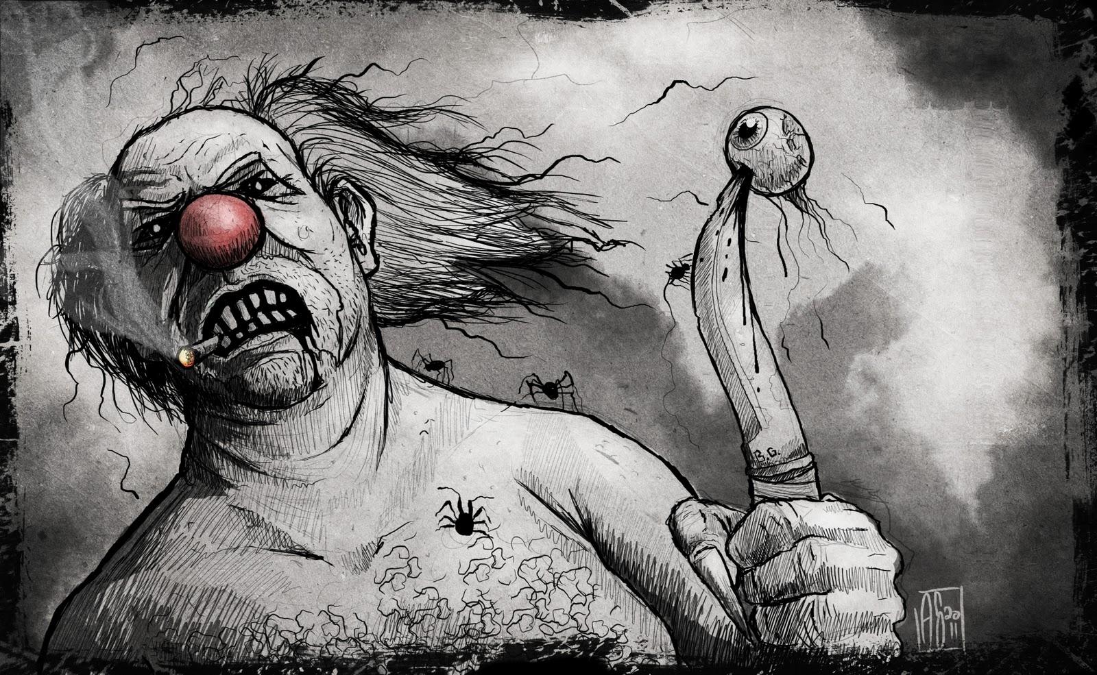 anthony sixto art blog halloween challenge day 4 clown halloween challenge day 4 clown