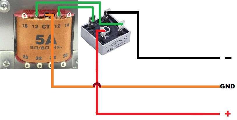 Rangkaian Power Supply Trafo Biasa Gurukatro