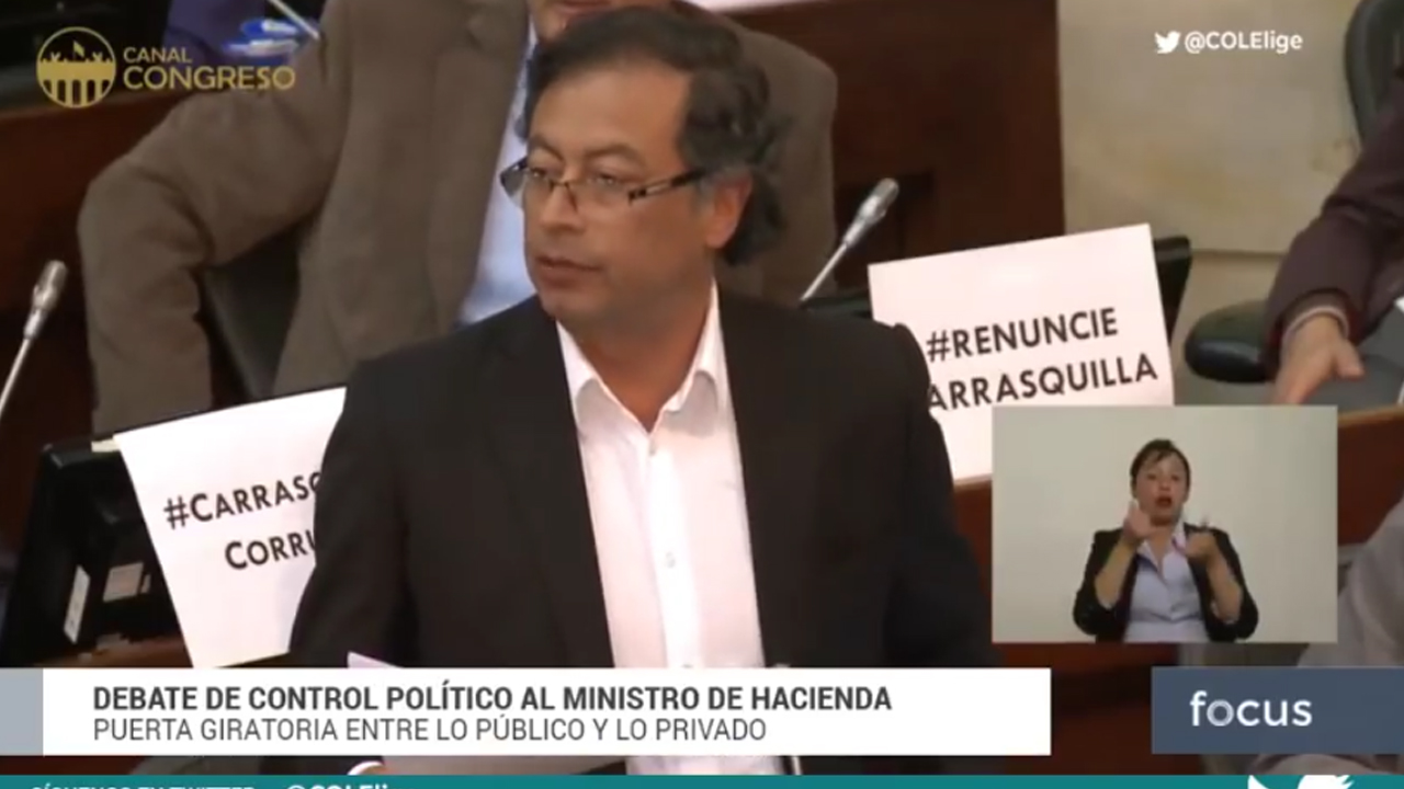 Dura intervención de Gustavo Petro contra ministro Carrasquilla