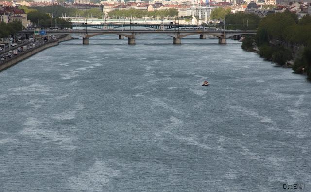 Vent du Nord sur le Rhône à Lyon