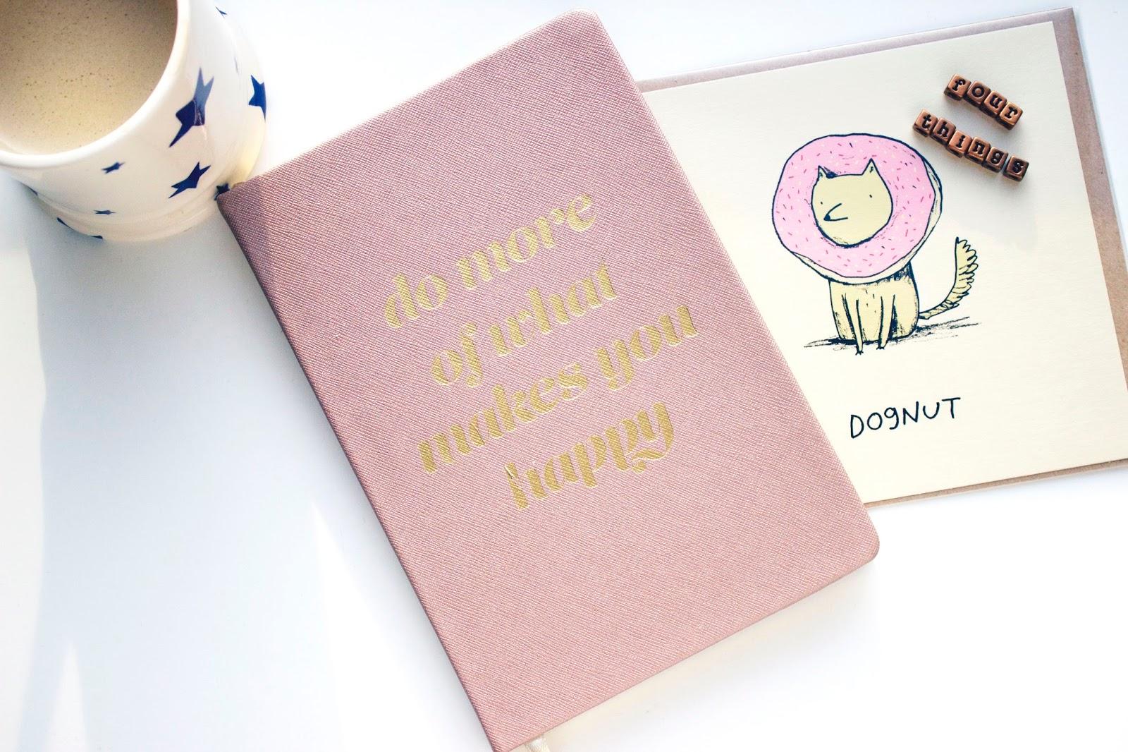 Four Things, Happy, Emma Bridgewater, Notepad, Stationery, Card,