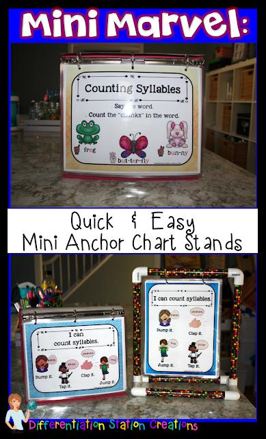 DIY Mini Anchor Chart Stand