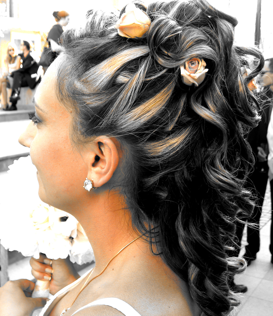 African American Updo Wedding Hairstyles: Wedding Style: African American Wedding