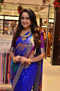 Pragya Jaiswal in colorful Saree looks stunning at inauguration of South India Shopping Mall at Madinaguda ~ Exclusive Celebrities Galleries 013