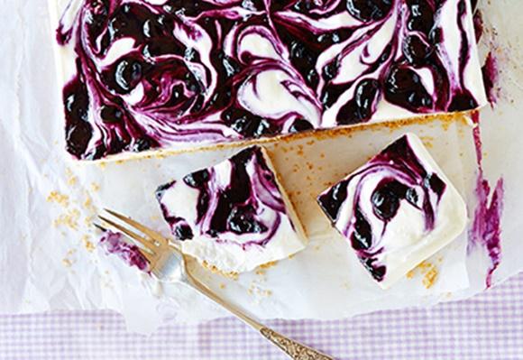 Gâteau Au Fromage Glacé Aux Bleuets
