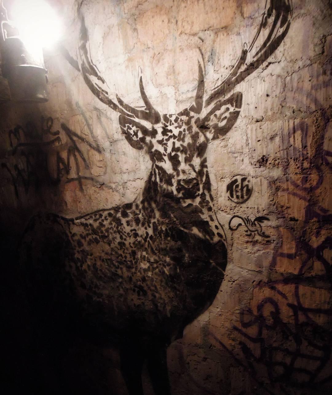 graffiti dans les catacombes
