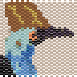 Free peyote pattern bird cassowary