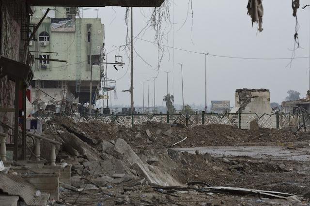 Μια γκρίζα μέρα στη δυτική Μοσούλη