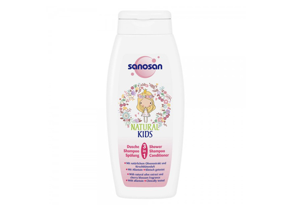 Sanosan Natural Kids 3-in-1 Shower And Shampoo