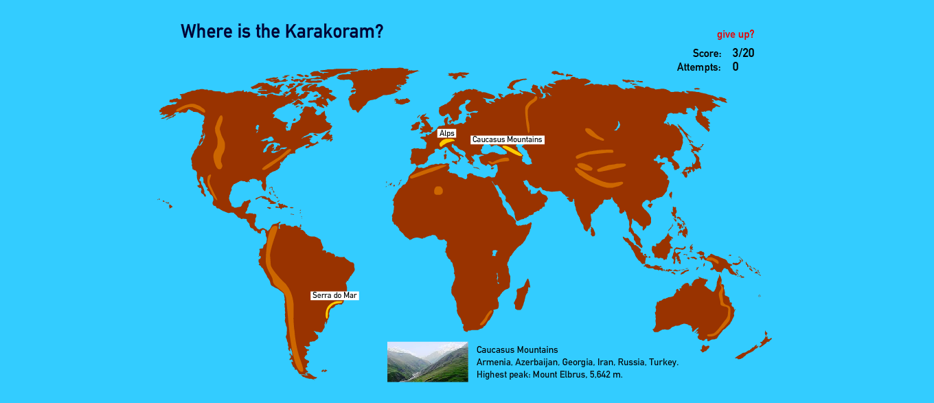 Something geography check this out world geography games mountain ranges game gumiabroncs Gallery