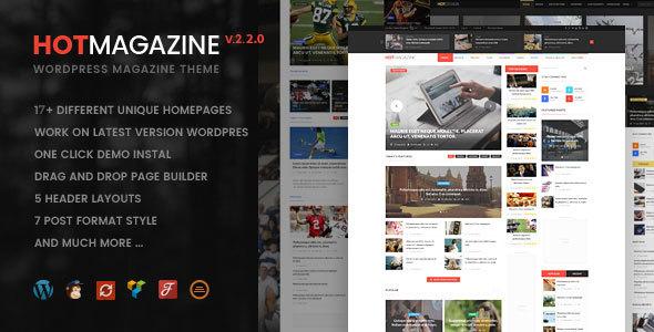 Hotmagazine v2.2.1 - Mẫu Chủ Đề Tin Tức Và Tạp Chí Cho Wordpress