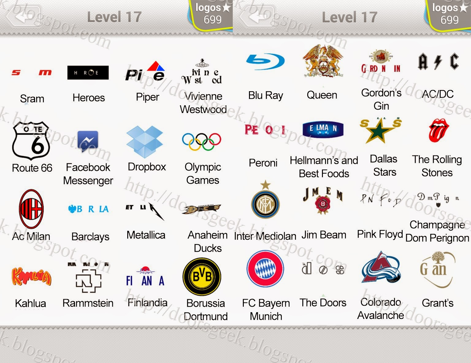 Image Gallery Logos Level 17