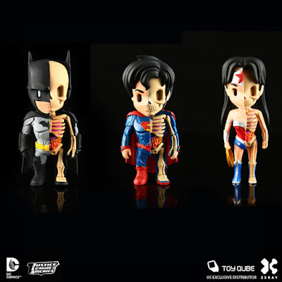 DC Comics XXRAY Dissection Vinyl Figure Series 1 by Jason Freeny & Mighty Jaxx - Batman, Superman & Wonder Woman