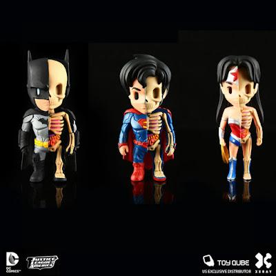 DC Comics XXRAY Dissection Vinyl Figure Series 1 by Jason Freeny & Mighty Jaxx - Batman, Superman & Wonder Woman