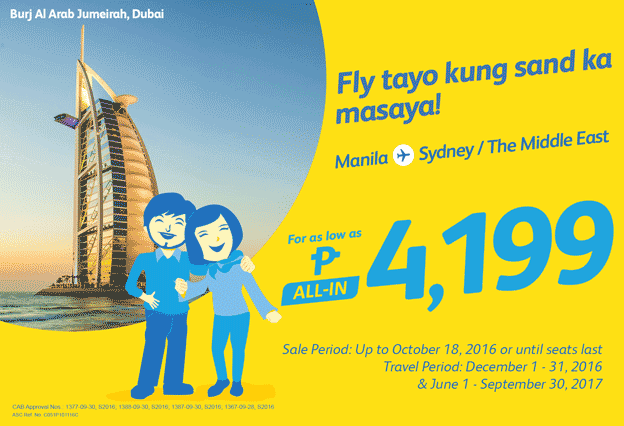 Cebu Pacific Promo Manila to Sydney 2016-2017