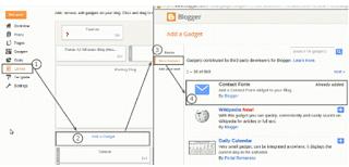 Membuat Widget Contact Form Contact Us Atau yang sering disebut Hubungi kami