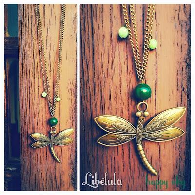 pulseras y collares happy uky complementos, collares libelulas handmade barcelona