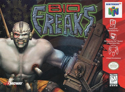 Front cover of the Nintendo 64 game Bio Freaks.