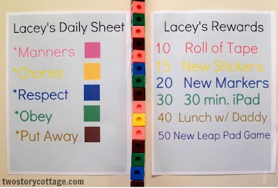 Behavior Chart and Printable