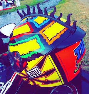 Fire Motorcycle Helmet Warhawk Mohawk