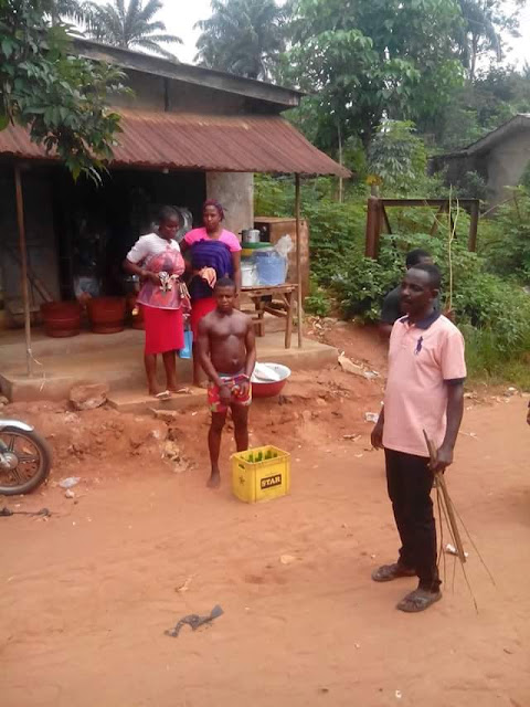 Young Man Beaten, Paraded For Stealing Two Crates Of Beer In Anambra [Photos]