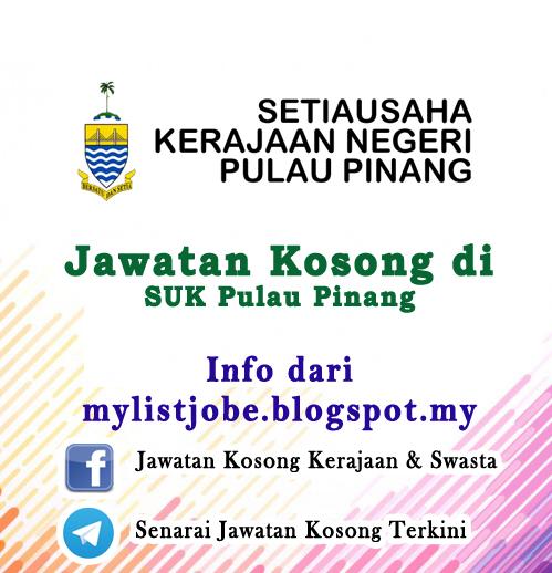Jawatan Kosong Di Suk Pulau Pinang 08 November 2016 Appjawatan Malaysia