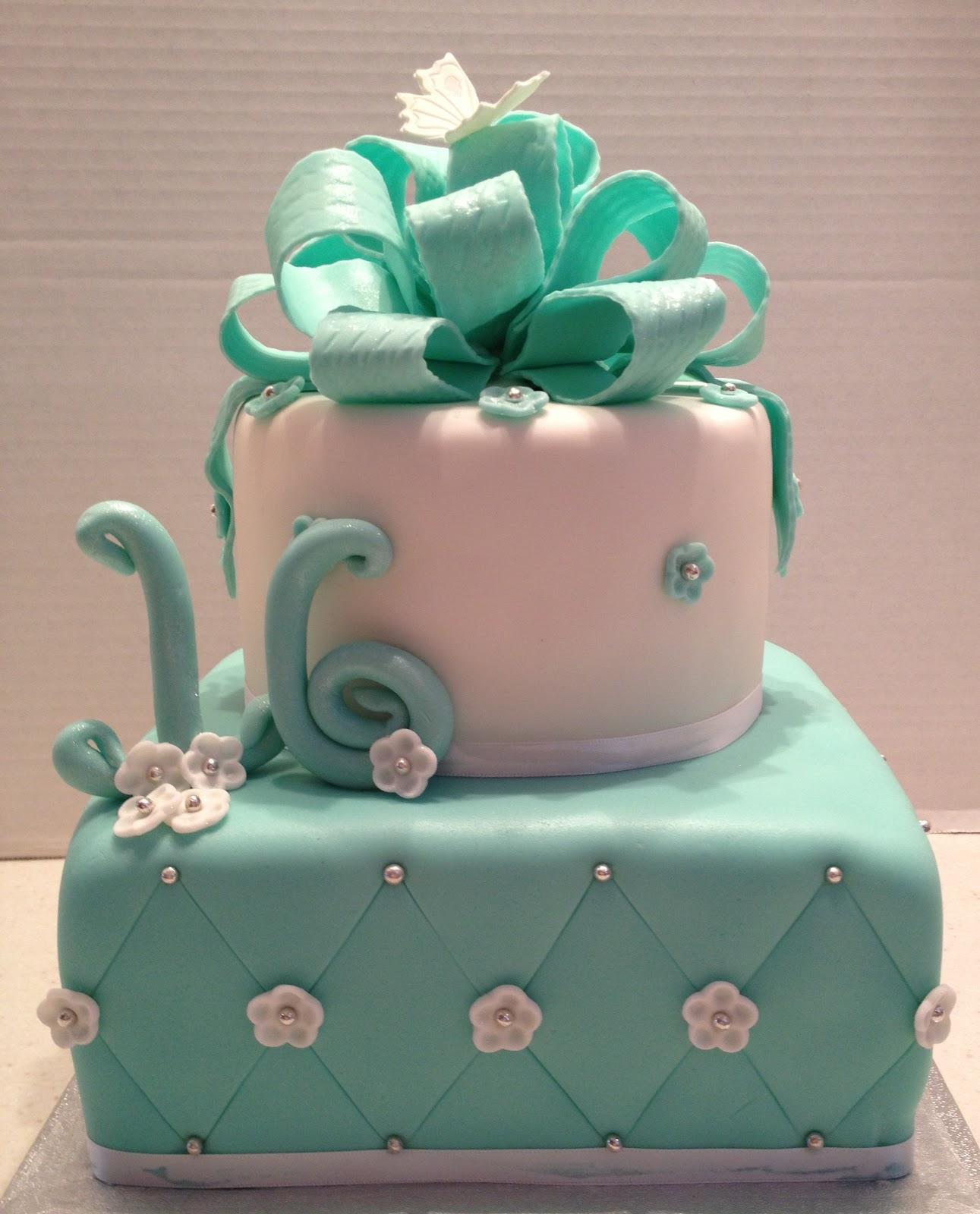 MaryMel Cakes: Sweet 16 In Tiffany Blue