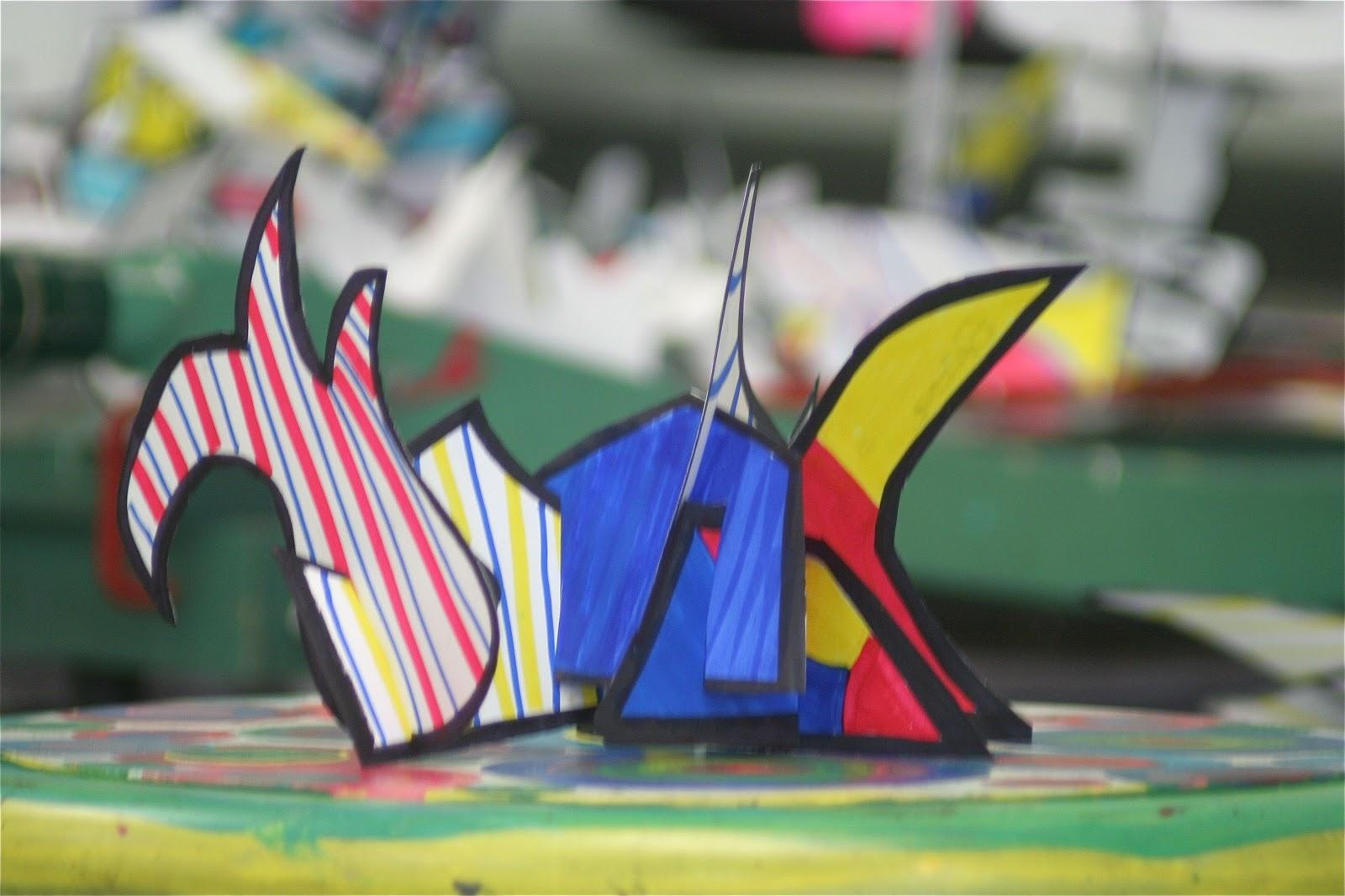 Splish Splash Splatter Dubuffet Sculptures